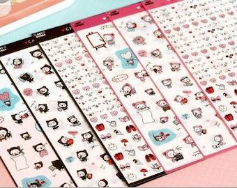 Benny's Life Sticker Set - Transparent Sticker - Diary Sticker - Cell Phone Sticker - Filofax - 6 Sheets in