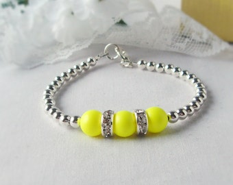 The TRIIIXXY Bracelet, This One's in Neon Yellow , Mix and Match -- One, Two or a Set of Three