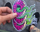 Screaming Donut Decal - Pink colorway