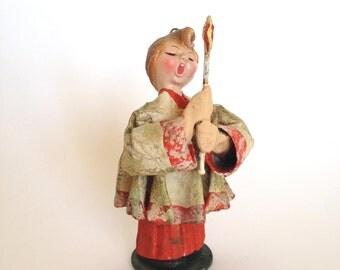 Christmas Caroler Alter Boy Figurine Italy Christmas Decor Ornament