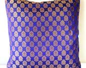 Dark Blue Pillow Blue Throw Pillow Blue Bedding Blue Decor Brocade Pillow Shimmer Navy Blue Pillow Throw Pillow Covers 18x18 inches