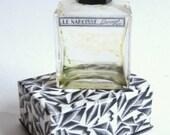DECO Vintage 1920s/1930s Le Narcisse Glass Perfume Bottle BAKELITE Cap Mod Black & White PRESENTATION Box Gatsby Flapper Burlesque Vanity