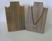 Necklace Stand 6 Inch 15 cm Rustic Wood Necklace Display Weathered Reclaimed Wood Take Down Design for Craft Shows