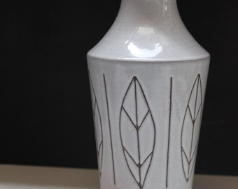 "Ilkra ""leaves"" vase Fat Lava 50's/60's Mid Century West German Pottery"
