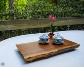 Walnut Cutting Board, Live Edge Serving Tray, Rustic Centerpiece, Bread Board, Cheese Board, Tea Tray, Gourmet Kitchen, Chef, Foodie Gift