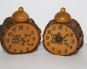 Vintage Rustic Wooden Time for Salt and Pepper Shakers from Sequoia National Park