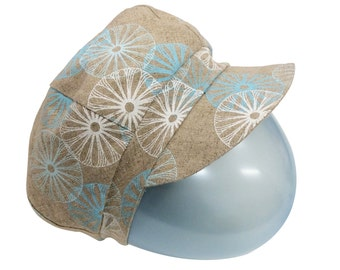 Two Blues Petals Newsboy Cap