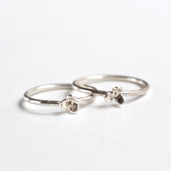 items similar to best friend gift floral rings set of