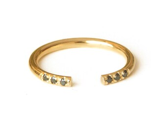 Stacking Ring, Dainty Stacking Ring, Open Ring, Dainty Ring, Pave Ring, Gold Filled Ring, Open gold ring, Cuff Ring, Stackable Ring