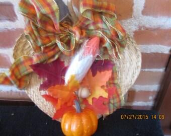 Autumn Straw Leaf Wall Decor