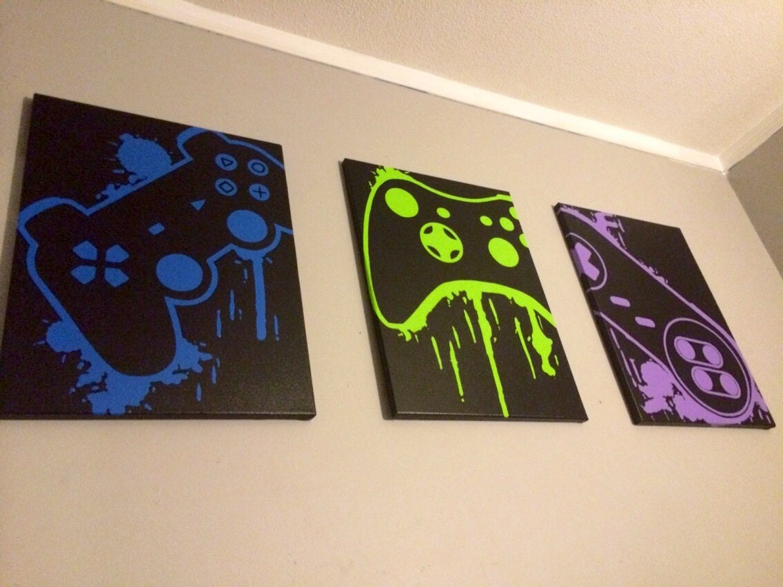 Video game controller art for Room painting games