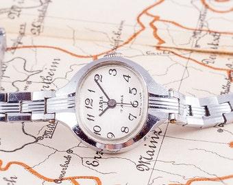 russian bracelet watch,jewel watch,Zaria watch,watches for women,retro womens watch,silver watch,womens watches,wind up watch,gift for women