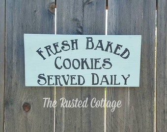 Hand painted sign/Fresh Baked Cookies/6x12in