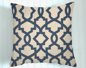 Blue    Pillow Cover.Decorator Pillow Cover.Home Decor. Navy Blue  .Cushions. Cushion.Pillow. Accent Pillow