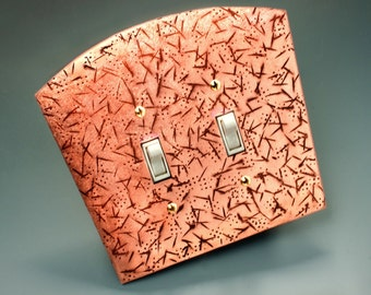 Hammered Copper Light Switch Cover Wall Plate Handmade by Wild Works Ltd. All Sizes Available