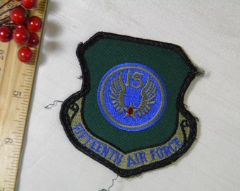 Air Force Fifteenth 15th Task Force Patch -Expeditionary Mobility Badge  - United States Military Soldier Air Force - Green Blue Red
