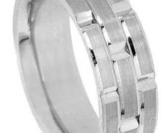 14K 8.5mm men's band