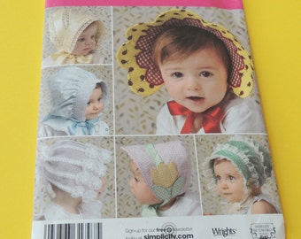 Simplicity 2908 Precious Baby and Toddlers Hats in 4 sizes Uncut