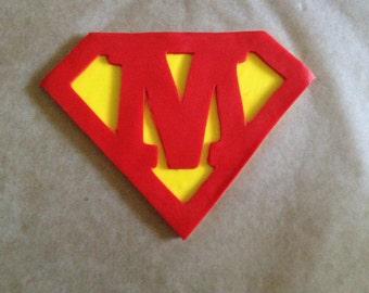 Custom Letter Superman Cake Decor