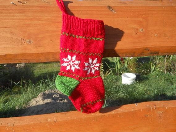 Patron tricot chaussette de noel - Au Bout de l'Aiguille