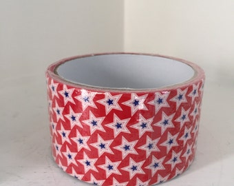 Red White & Blue Stars Duct Tape