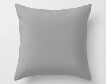 Solid Gray Pillow Cover Modern Minimalist Pillow case Decor Pillow cover Cushion covers Pillow case Accent pillow Couch pillow Decore pillow