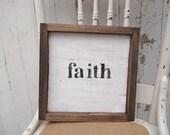 Simple little black faith Sign