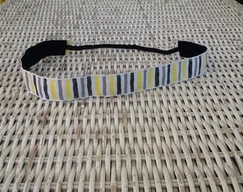 Black Yellow  Striped Headband - Womens Comfortable Headband