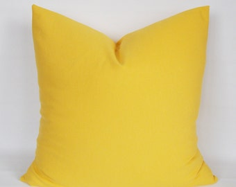 Solid Yellow pillow,Decorative pillow,Throw pillow,Pillow cover  Cotton Canvas Blend,12,14,16,18,20,22,24,26,28,30 inch