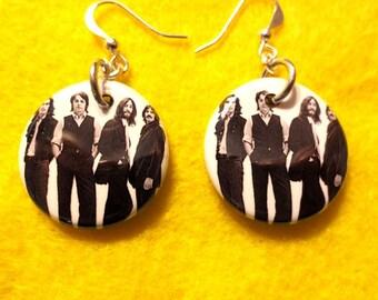 Beatles dangle earrings