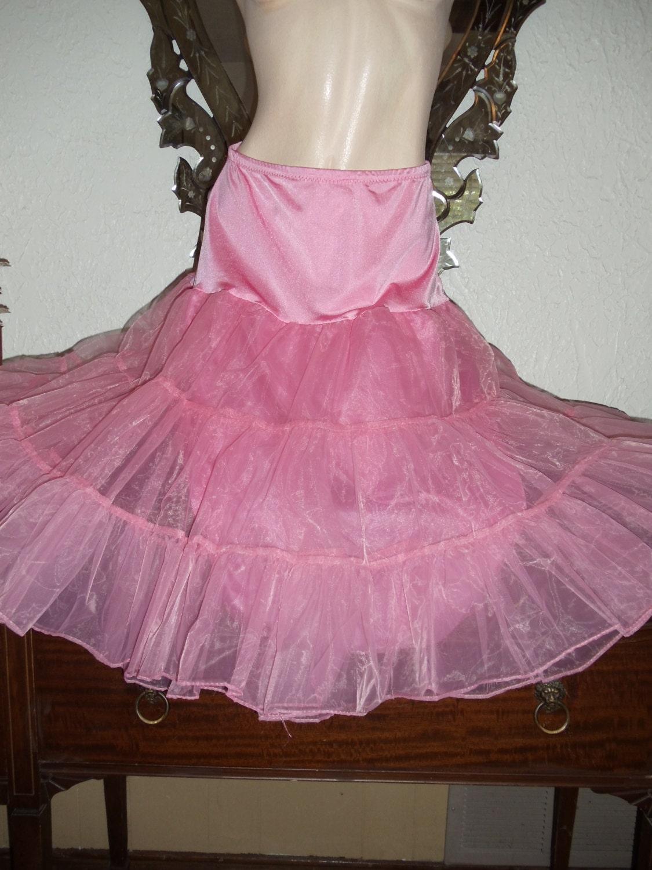 Vintage Petticoats Slip Skirt Lingerie Crinoline Dress Pretty