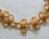 WILLIAM de LILLO NECKLACE- Very High End Collectible-Designer Signed-1960's Mod Pop to the Max-18k Gold Plated Flowers-Wow-Excellent Find