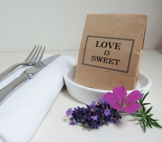 Wedding Favor Bags Candy : SWEET-Rustic Wedding Favor Bags-Candy Bar Bags-Block Bottom Favor Bags ...