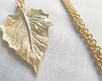 Gold Leaf Necklace