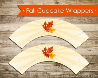 Fall Festival Cupcake Wrappers- Instant Download