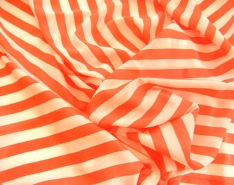 SALE Orange and White Striped Scarf - Silky Polyester - Jazz up last year's bring outfit of of any color - #14