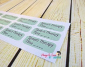 Speech Therapy Planner Sticker - Size Customize-able