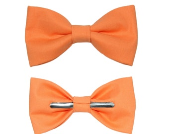 Clip On Mango Cotton Bow Tie ~ Choose Men's or Boys Sizes ~ Wedding / Ring Bearer / Formal / Prom