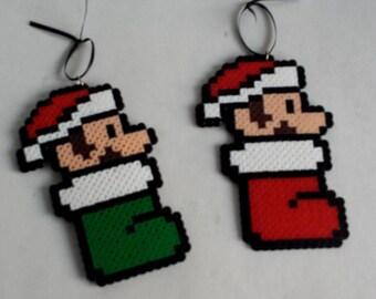 Christmas Ornaments - Mario and Luigi