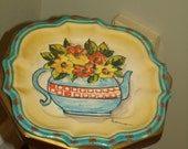 Vintage  Italico Ars Handpainted   Plate  Decor Gorgeous Vintage style