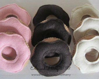 Felt  Donuts with Assorted Frosting - Set of 3