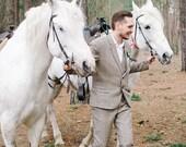 Men's Tweed Suit with Vest, Tweed Suit English Style, Wool Tweed Suits