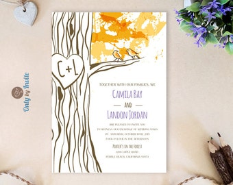fall wedding invites  etsy, Wedding invitations