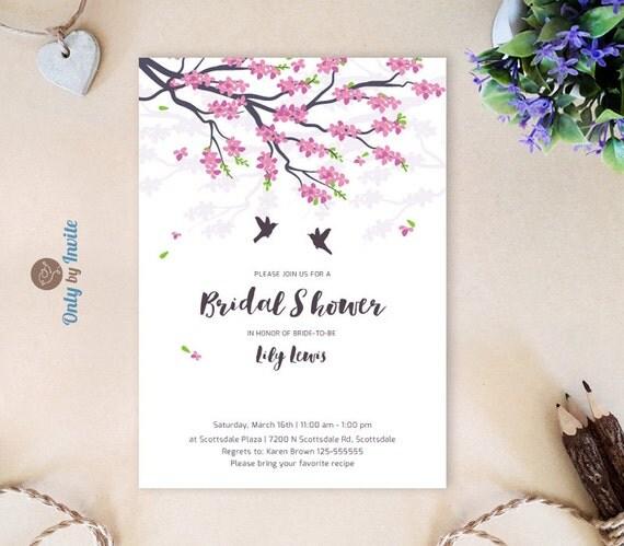 bridal shower invitation cheap pink tree wedding shower invitations