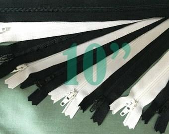 10 inch zippers ykk zippers black zippers nylon zippers white zippers 10 inch zips black zippers wholesale zippers sampler pack zipper