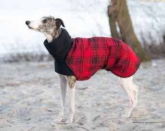 Tartan Sighthound Coat / Red & Black