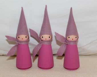 felt peg doll - gnomes - waldorf - handmade