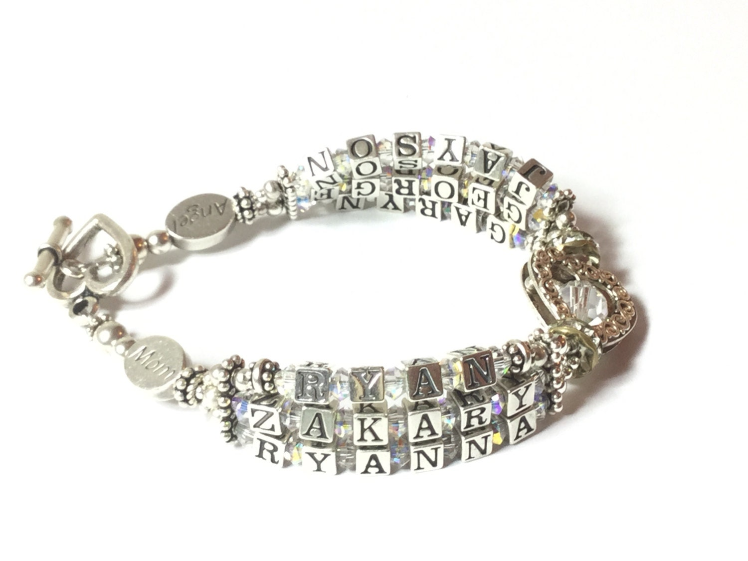 Mommy Bracelet, Mother's Bracelet, Grandmother Bracelet, Grandmother Jewelry, Family Name Bracelet, Children Name Bracelet, 6 name bracelet