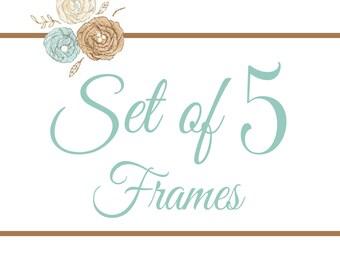 Set of 5 Frames- You Pick Any 8x8 Design
