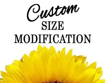 Custom Size Modification